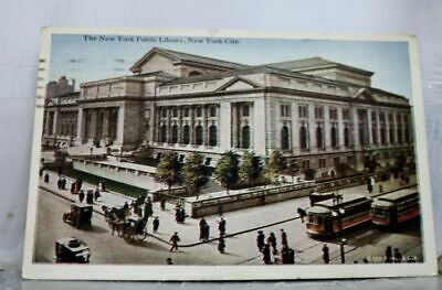 New York NY NYC Public Library Postcard Old Vintage Card View Standard Souvenir