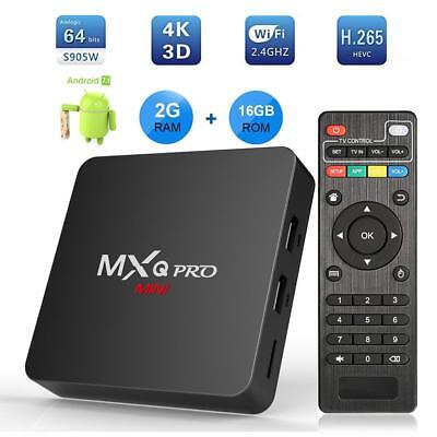 MXQ Pro MINI Android7.1 Smart TV Box 2GB+16GB S905W Quad Core 4K Media Player
