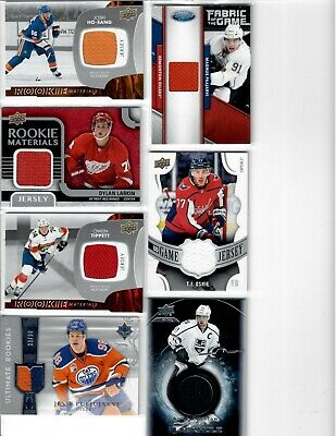 Lot of 7 Rookie Materials Game Jersey 2016-17 2017-18 2018-19 Upper Deck