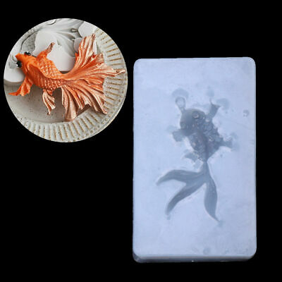 DIY Goldfish Silicone Mould Jewelry Pendant Resin Casting Craft Making Molds Kit
