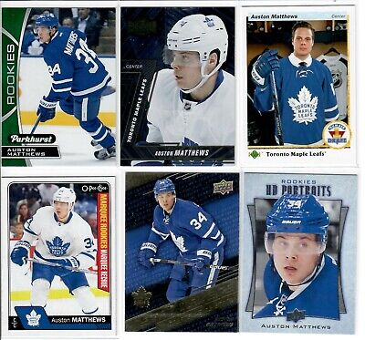 Lot of 13 Auston Matthews Rookie Cards BV$272 UD RC 2016-17 2018-19 Maple Leafs