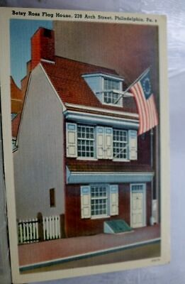 Pennsylvania PA Betsy Ross House Philadelphia Postcard Old Vintage Card View PC