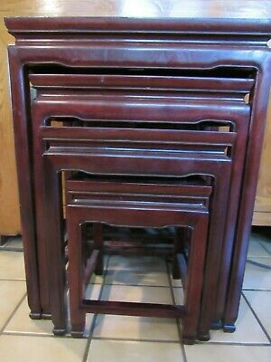 Vintage Chinese rosewood nesting tables