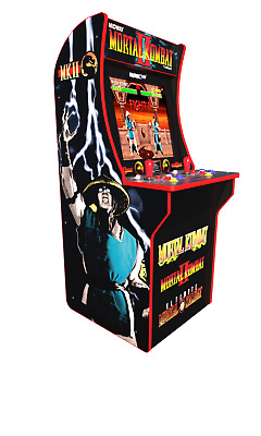 Arcade1Up-Mortal Kombat Machine, 4ft, Authentic Arcade Controls 3 Games New