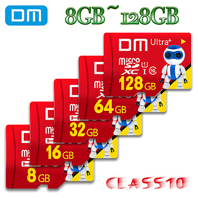 DM TF Micro SD Card Class 10 SDHC SDXC 64 32 16 8 GB Flash Memory Adapter Lot