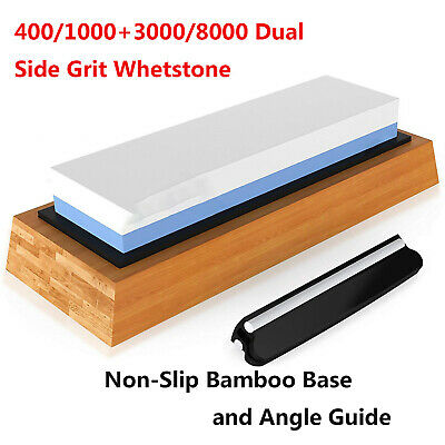 1000/6000 400/1000+3000/8000 Grit Premium Whetstone Cut Sharpening Stone Set UK