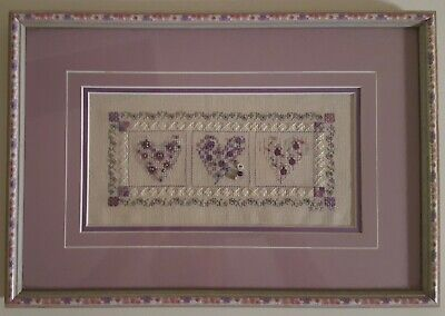 """Gypsy Hearts"" -Designed by Shepherd's Bush -Mixed Embroidery Stitches and Beads"