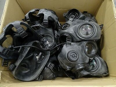 Job Lot Wholesale 15 x Avon FM12 Gas Mask With Cuts And Missing Parts