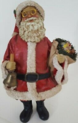 Antique Style Bell Ringing Santa ~Fabrique~Christmas Collectible~SAVE $$'s with