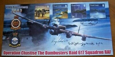 Dambusters Sgt G.l Johnson & Sgt Ray Grayston Signed Dambuster Cover