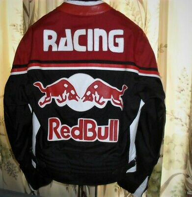 LEDERJACKE MOTORED JACKE RED BULL Gr. M + Chicago Bulls CAP