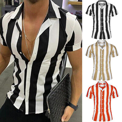 CA Fashion Men Slim Fit V Neck Long Sleeve Muscle Tee T-shirt Casual Tops Blouse