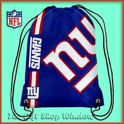 New York Giants Drawstring Crest Gym / Sports / School Bag Official Nfl New