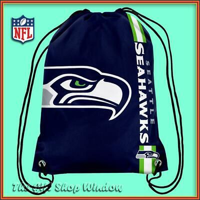 Seattle Seahawks Drawstring Crest Gym / Sports / School Bag Official Nfl New