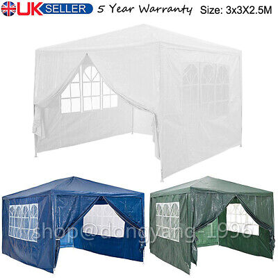 3x3m Garden Pop Up Gazebo Marquee Party Tent Wedding Canopy New