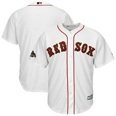 Majestic Boston Red Sox White 2019 Gold Program Cool Base Team Jersey