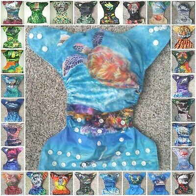NEW - Complete Lot/Stash of 30 WILD TUSHIES CLOTH DIAPERS + Hemp/Bamboo INSERTS