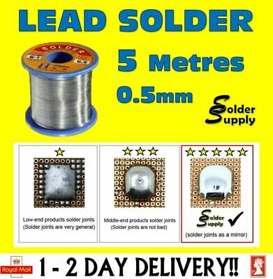 Solder Wire Leaded Pb Flux Core Hobbyists Electronic soldering DIY 5M 0.5mm