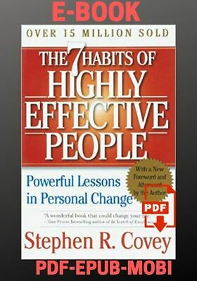 The 7 Habits of Highly Effective People by Stephen R.Covey EPUB-PDF-MOBI