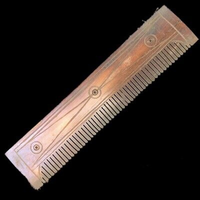 ANCIENT VERY RARE ROMAN PERIOD DECORATED HAIR COMB 2nd-3rd Cent AD (1)