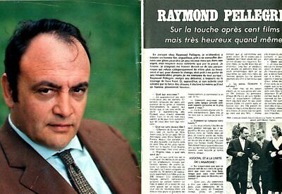 Coupure de presse Clipping 1974 Raymond Pellegrin  (4 pages)