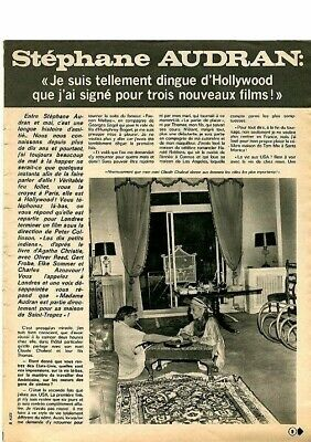 Coupure de presse Clipping 1974 Stéphane Audran (3 pages)