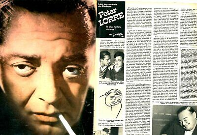 Coupure de presse Clipping 1974 Peter Lorre  (4 pages)