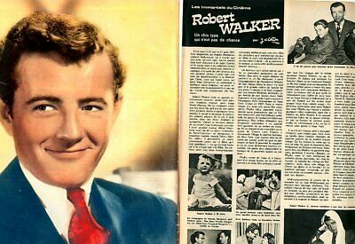 Coupure de presse Clipping 1974 Robert Walker  (4 pages)