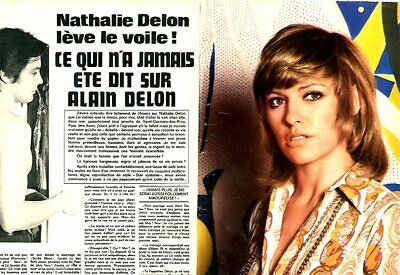 Coupure de presse Clipping 1974 Nathalie Delon  (4 pages)