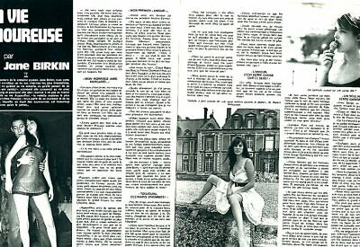 Coupure de presse Clipping 1974 Jane Birkin  (2 pages)