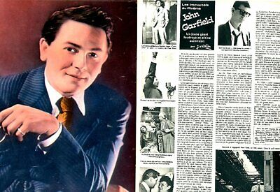 Coupure de presse Clipping 1974 John Garfield (4 pages)