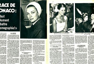 Coupure de presse Clipping 1974 Grace de Monaco (2 pages)