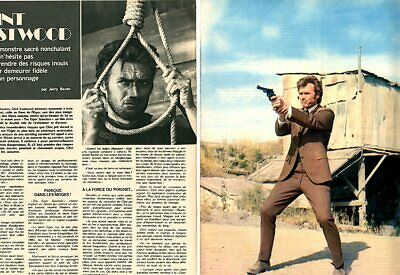 Coupure de presse Clipping 1974 Clint Eastwood (4 pages)*
