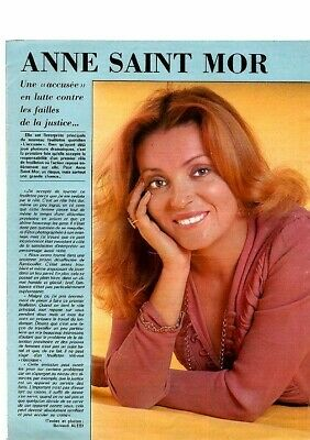 Coupure de presse Clipping 1974 Anne Saint Mor (1 page)