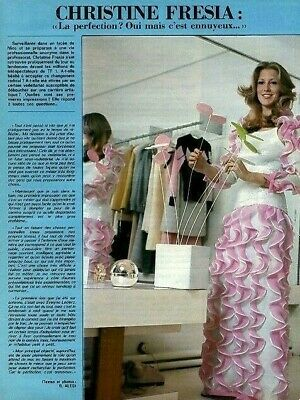 Coupure de presse Clipping 1974 Christine Fresia  (1 page)