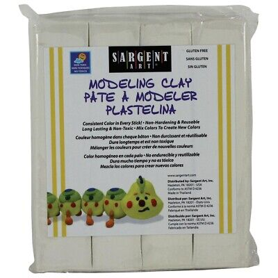 Sargent Art Modeling Clay - White  - White