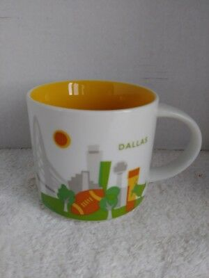 Starbucks Mug DALLAS Texas You Are Here Collection 2014 Coffee Cup Nice Pre-own