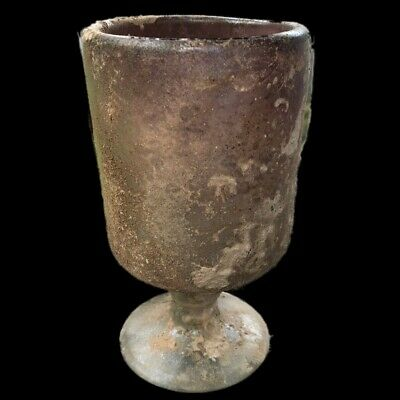 VERY RARE LARGE ANCIENT ROMAN GLASS VESSEL 1st Century A.D. (3)