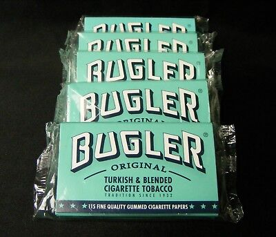 Lot x 5 Double Packs BUGLER Cigarette Rolling RYO Papers 1150 Total Leaves New