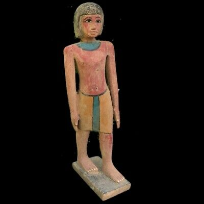 Beautiful Ancient Huge Egyptian Wooden Statuette 300 Bc (1) 38 Tall !!!!!