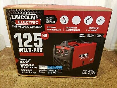 Lincoln Electric Weld Pak 125 HD Wire-Feed Welder (New)