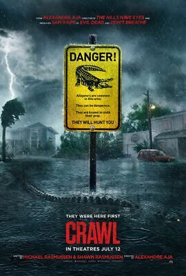 Crawl - original DS movie poster 27x40 D/S - Advance Alligator - Sam Raimi
