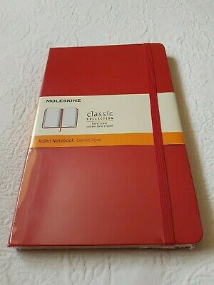 Moleskine Notebook Large Hard Cover Ruled NEW Red
