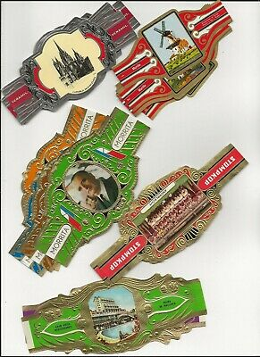 M.v. - 5 Full Sets - Large Cigar Bands
