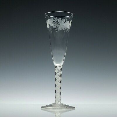 Antique 19th Century Victorian Champagne Glass c1850
