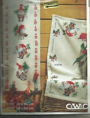 Cewec  Cross stitch kit Adventcalender Christmas Gnomes V6169 NIP