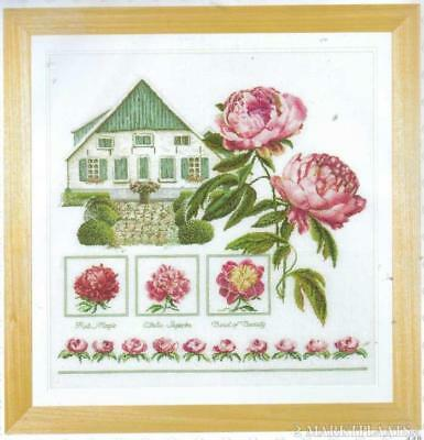 Thea Gouverneur X-stitch kit Boerenpioenen kit 448