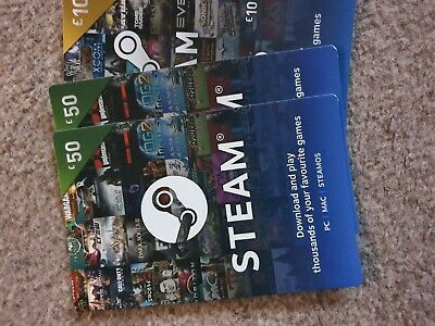 £50 Steam Gift Card - 10 GBP Pounds UK Steam Wallet - Digital Prepaid Gift Card