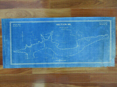 1892 UNION CANAL Schuylkill County Branch Section 99 Original Blue Print