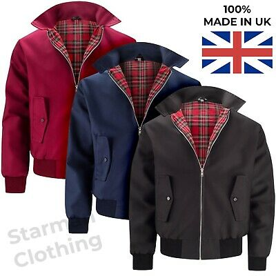 Harrington Jacket Mens Classic Retro -  Vintage Bomber Mod Coat Top